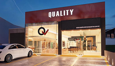 quality vidros esquadrias showroom